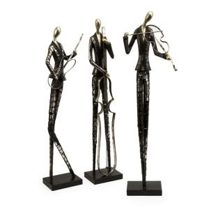 Jazz Club Musician Statues - Set of 3