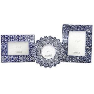 Lucenda Blue and White Ceramic Frames - Set of 3