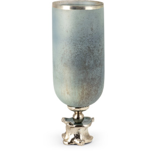 Alsace Small Glass and Aluminum Vase
