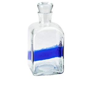 Azul Art Glass Decorative Bottle with Stoppers -Small