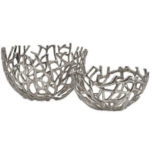 Davidson Aluminum Coral Bowls - Set of 2