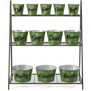 Herb Garden with Stand - Set of 13