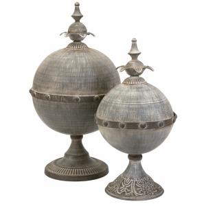 Decorative Lidded Sphere - Set of 2