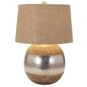 Nessa Wood and Metal Clad Lamp
