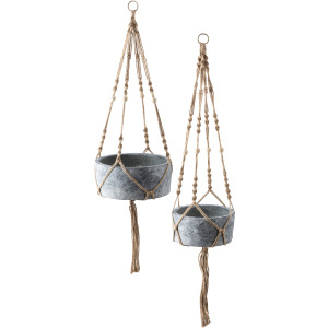 Abelina Macrame Hanging Planters - Set of 2
