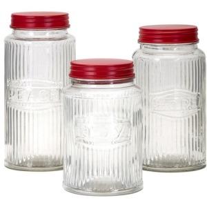 Homestead Christmas Glass Peace, Hope, Joy Jars - Set of 3