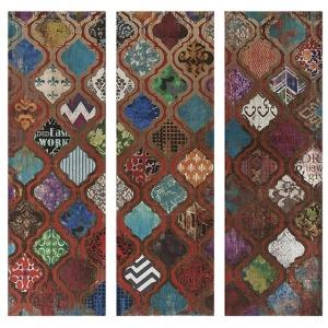 Mcbride Geometric Triptych Art - Ast 3
