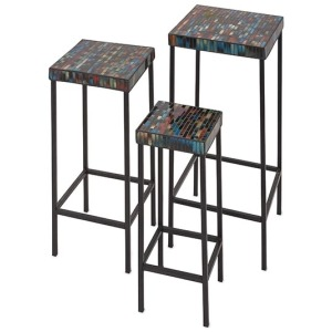 Barcelona Mosaic Glass Tables - Set of 3