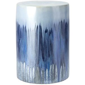 Oreille Blue Glaze Garden Stool