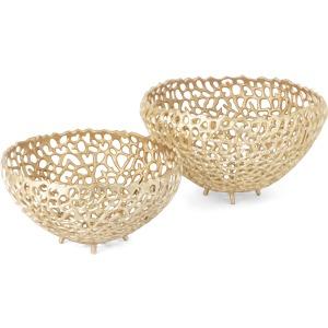 SG Pomona Aluminum Decorative Bowls - Set of 2