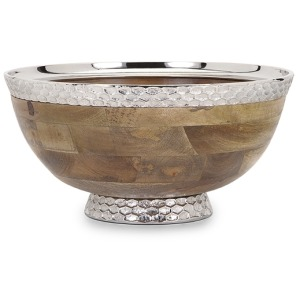 Mango Wood Pedestal Bowl