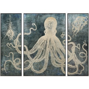 Dorado Triptych Wall Decors with Frame