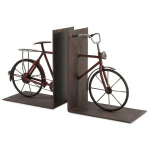 Renee Bicycle Book Ends - Set Of 2