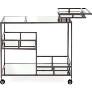 Tribute Black Plated Bar Cart