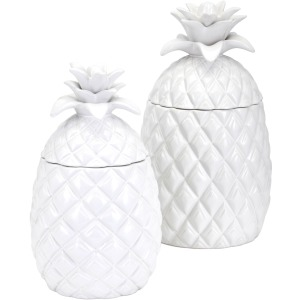 Pineapple Canisters - Set of 2