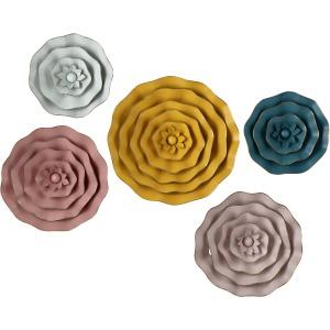Finley Dimensional Flower Wall Decor - Set of 5
