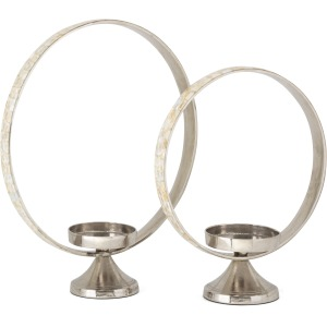 Alessia Mother of Pearl Candleholders - Set of 2