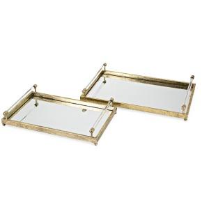 Carter Metal and Acrylic Decorative Trays - Set of 2