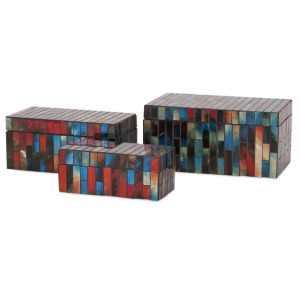 Barcelona Mosaic Glass Boxes - Set of 3