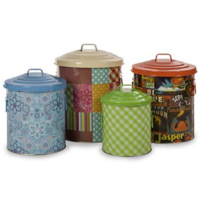 County Fair Pattern Storage Can - Set of 4