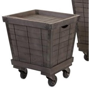 Ella Elaine Wood Cart Tray Side Tables - Small