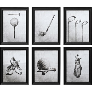 PGA TOUR Mulligan Wall Decor - Ast 6