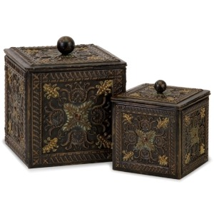 Arabian Nights Lidded Boxes - Set of 2