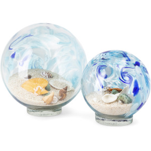 Adams Art Glass Globes - Set of 2