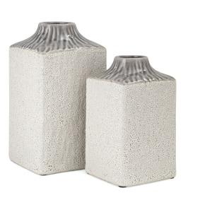 SG Grey Top Square Vases - Set of 2
