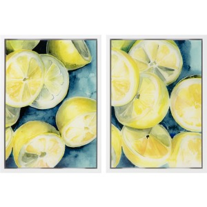Capri Lemon Acrylic Wall Decor - Ast 2