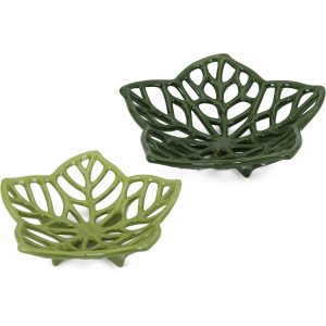 Floriana Ceramic Cutwork Flowers - Set of 2