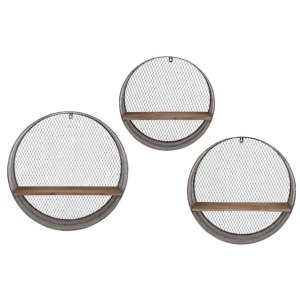 Laurel Round Wall Shelves - Set of 3