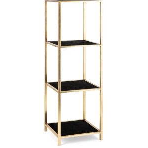 TY Tribute Suede and Metal Etagere Shelf