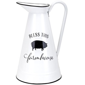 Bless This Farmhouse Pitcher