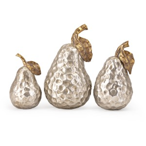 Lambert Gold and Silver Pears - Set of 3