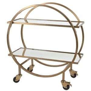 Murphey Stainless Steel Bar Cart