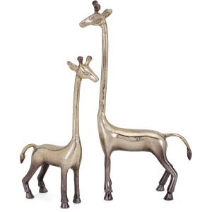 Diagle Aluminum Giraffes - Set of 2