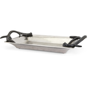 TY New Frontier Aluminum Tray with Horn Handles