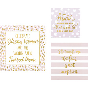 Madre Gold Foil Wall Blocks - Set of 3