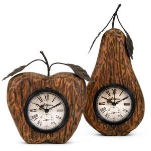 Apple and Pear Desk Clocks