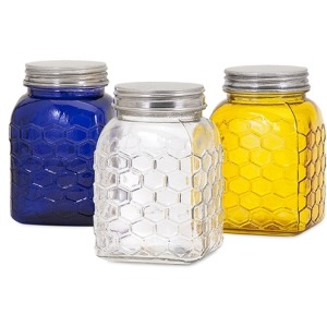 TY Honeybee Glass Canisters - Ast 3