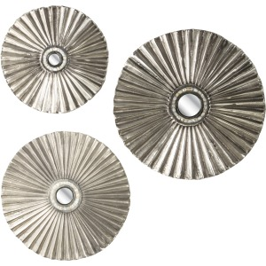 Alessia Mother of Pearl Disk Wall Decor - Set of 3