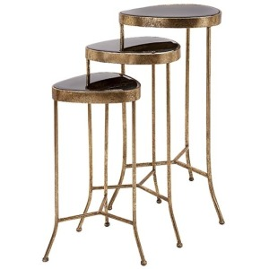 Harlow Black Mirror Nested Table - Set of 3