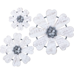Loraine Wall Flowers - Set of 3