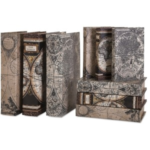 Mason Map Book Boxes - Set of 9