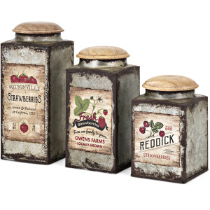 TY Berry Patch Lidded Containers - Set of 3