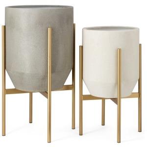 Salvador Metal Planters - Set of 2