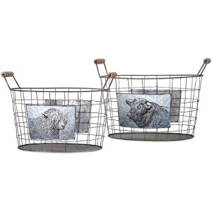 Ella Elaine Farm Baskets - Set of 2