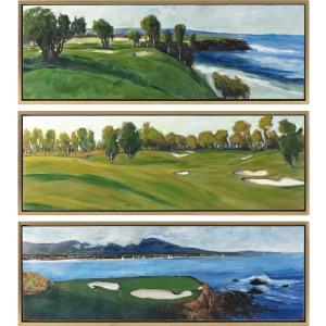 PGA TOUR Clubhouse Framed Oil Painting - Ast 3