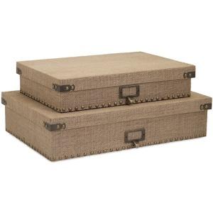 Corbin Document Boxes - Set of 2